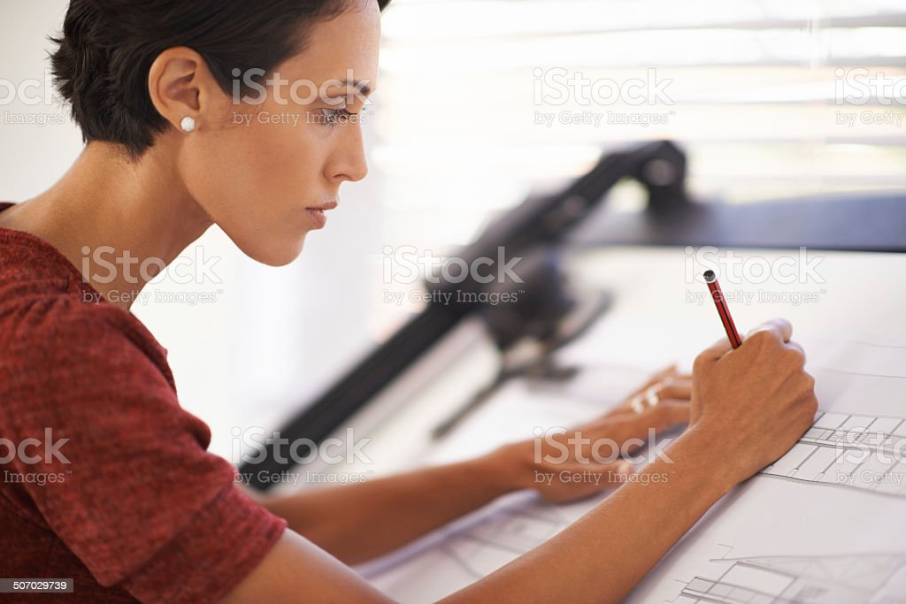Totally focused on the design royalty-free stock photo