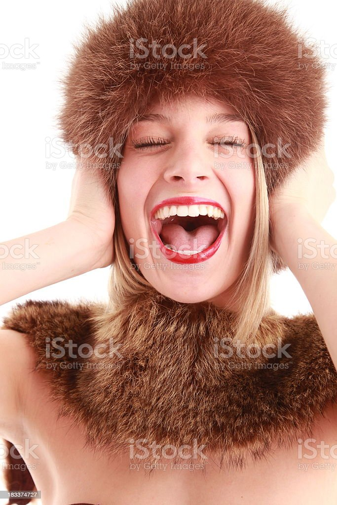 Mujer feliz totalmente foto de stock libre de derechos