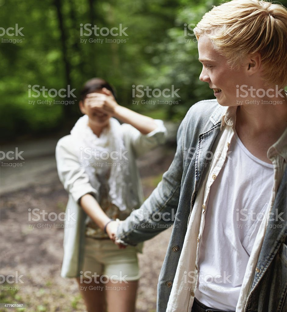 Totally trusting in one another royalty-free stock photo