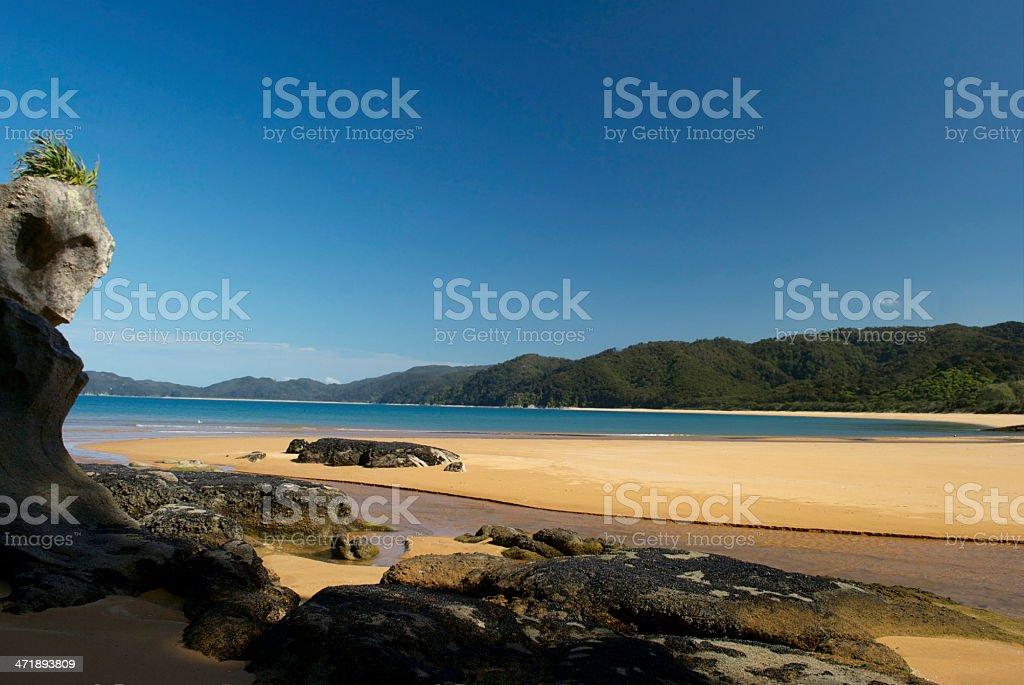Totaranui Estuary, Abel Tasman National Park, New Zealand royalty-free stock photo