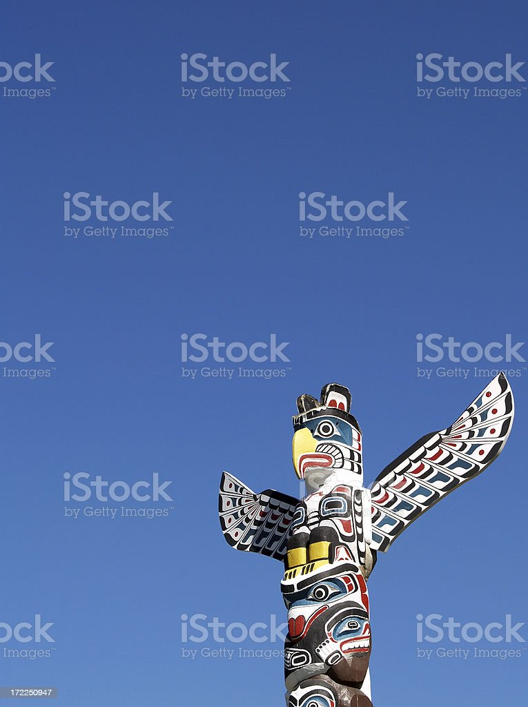 Totem against blue sky royalty-free stock photo