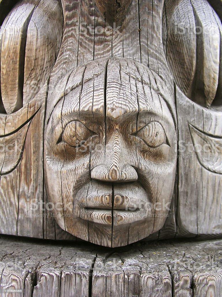 Totem Pole Detail royalty-free stock photo