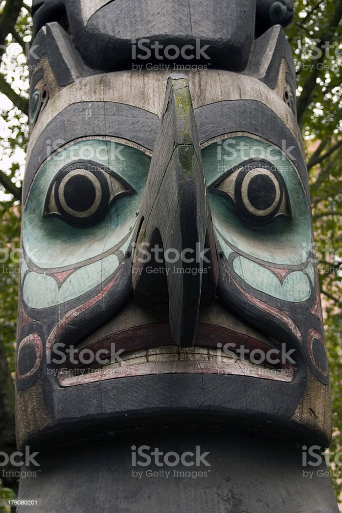 Totem Pole Face royalty-free stock photo