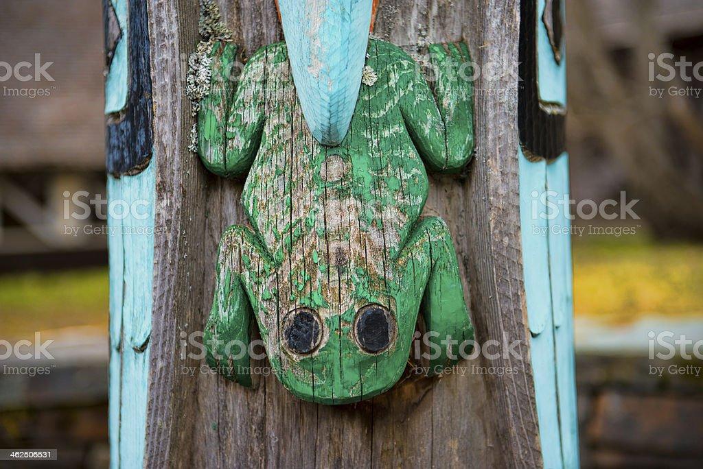 Totem Pole Frog stock photo