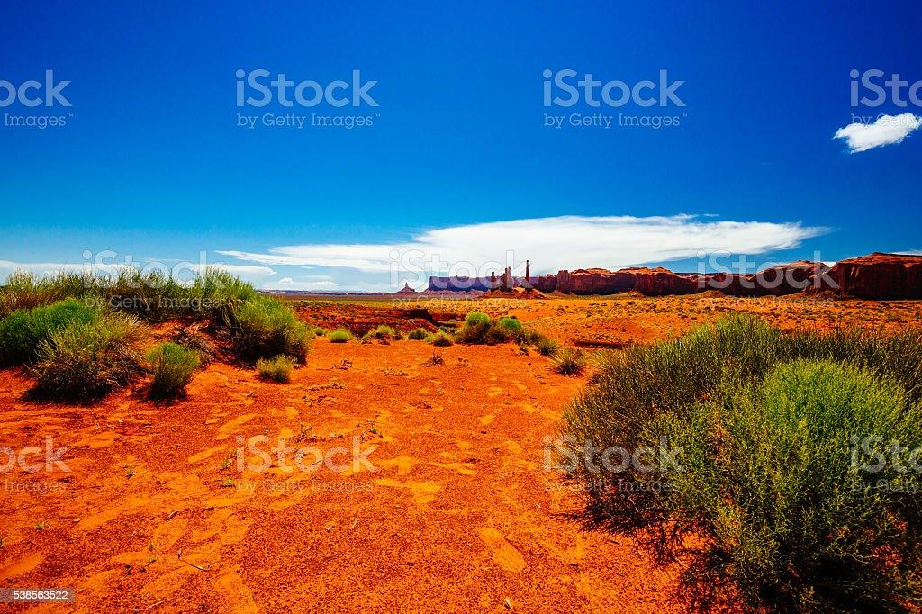 Totem Pole, Monument Valley, Arizona, USA stock photo