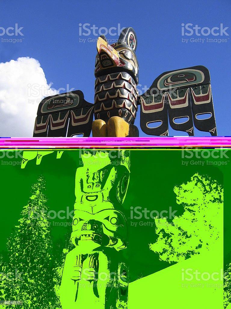 Totem Pole royalty-free stock photo