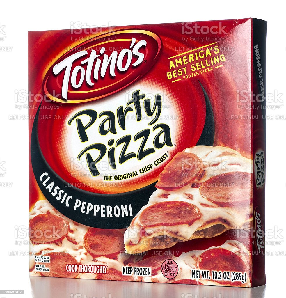 Totino's Party Pizza Classic Pepperoni royalty-free stock photo