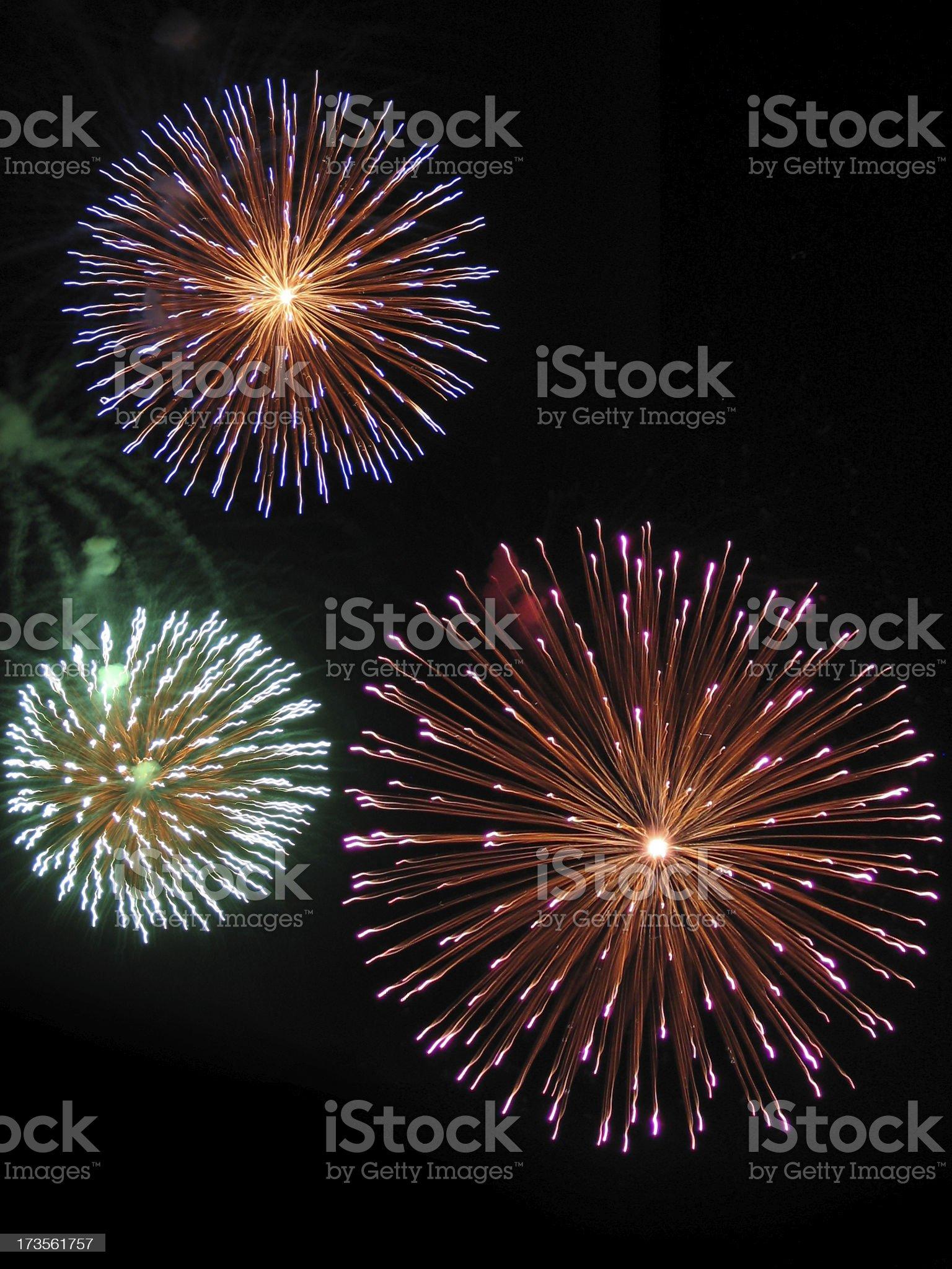 Tottenham Fireworks royalty-free stock photo