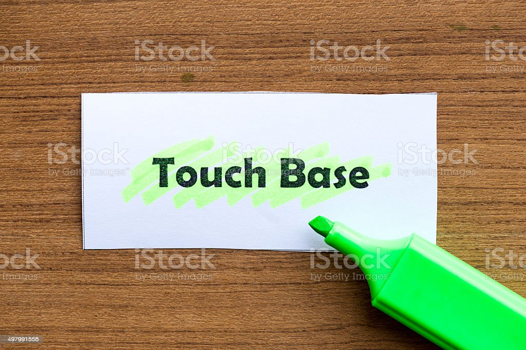 touch base stock photo