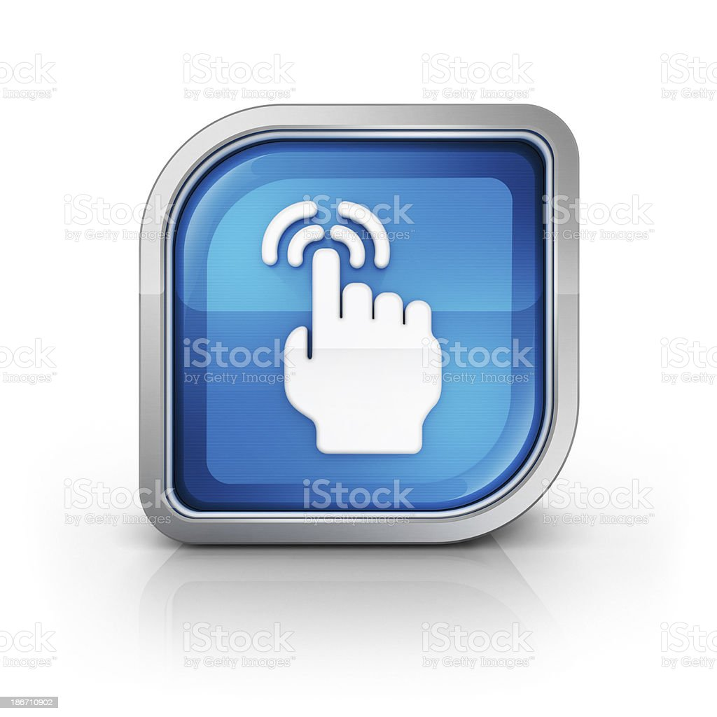 touch click and hand interactive icon stock photo