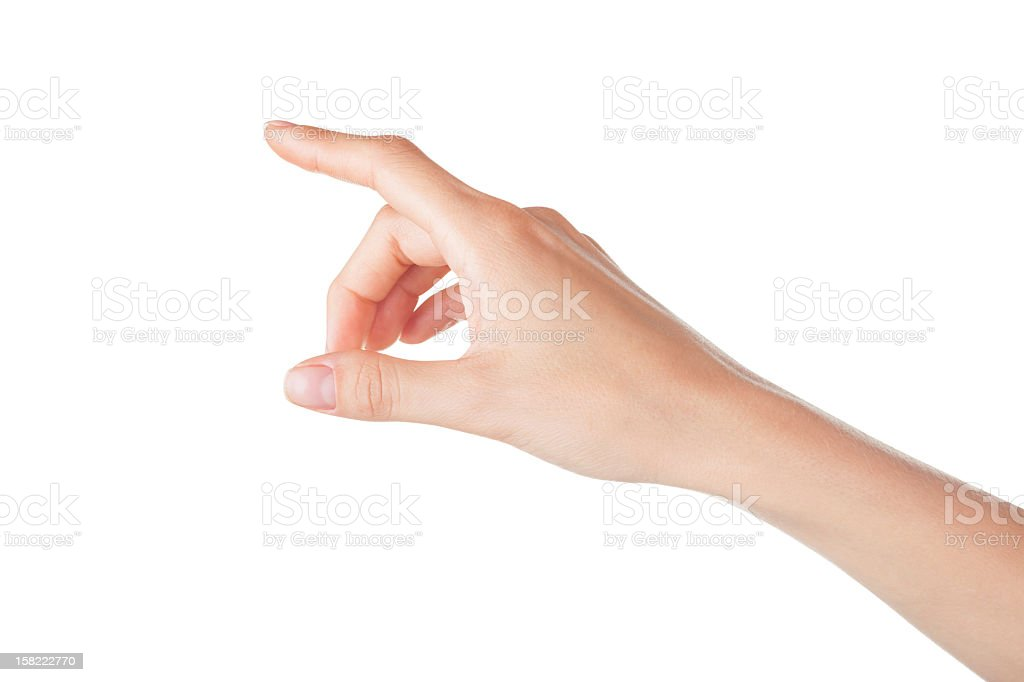 Touch controlled white virtual screen stock photo