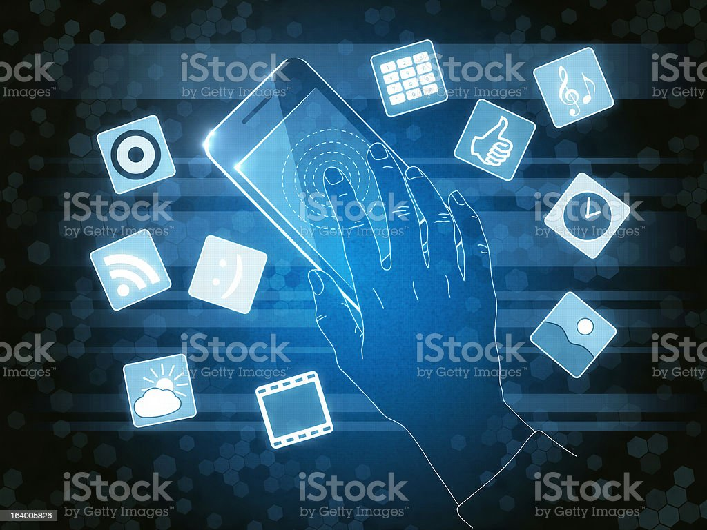 Touch Device royalty-free stock photo