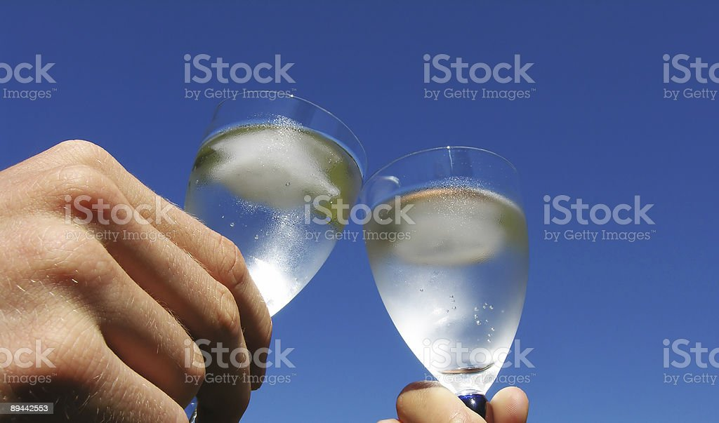 Touch Glasses royalty-free stock photo