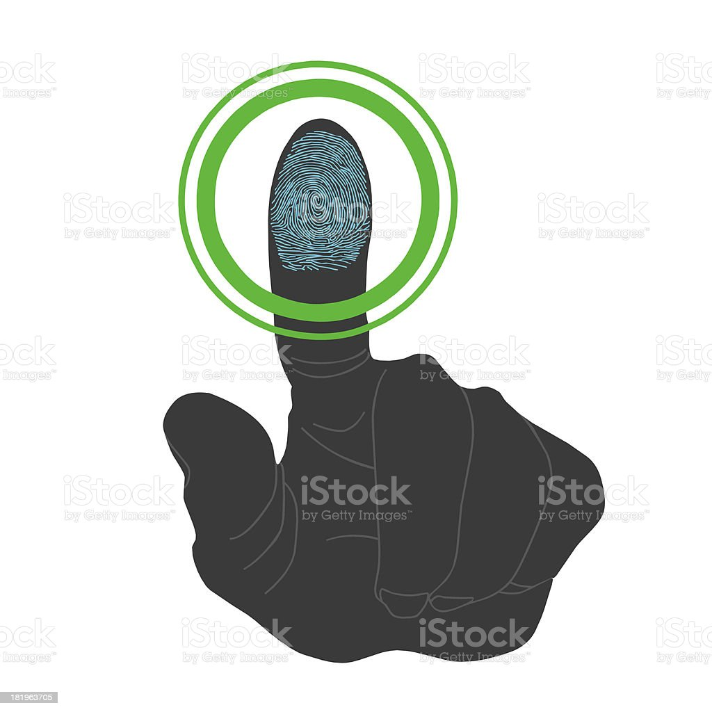 Touch, ID, Fingerprint scan Access Symbol royalty-free stock photo