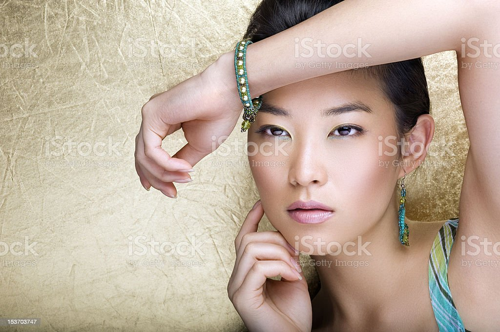 Touch of beauty royalty-free stock photo
