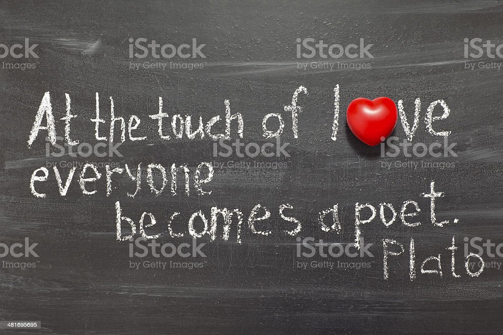 touch of love stock photo