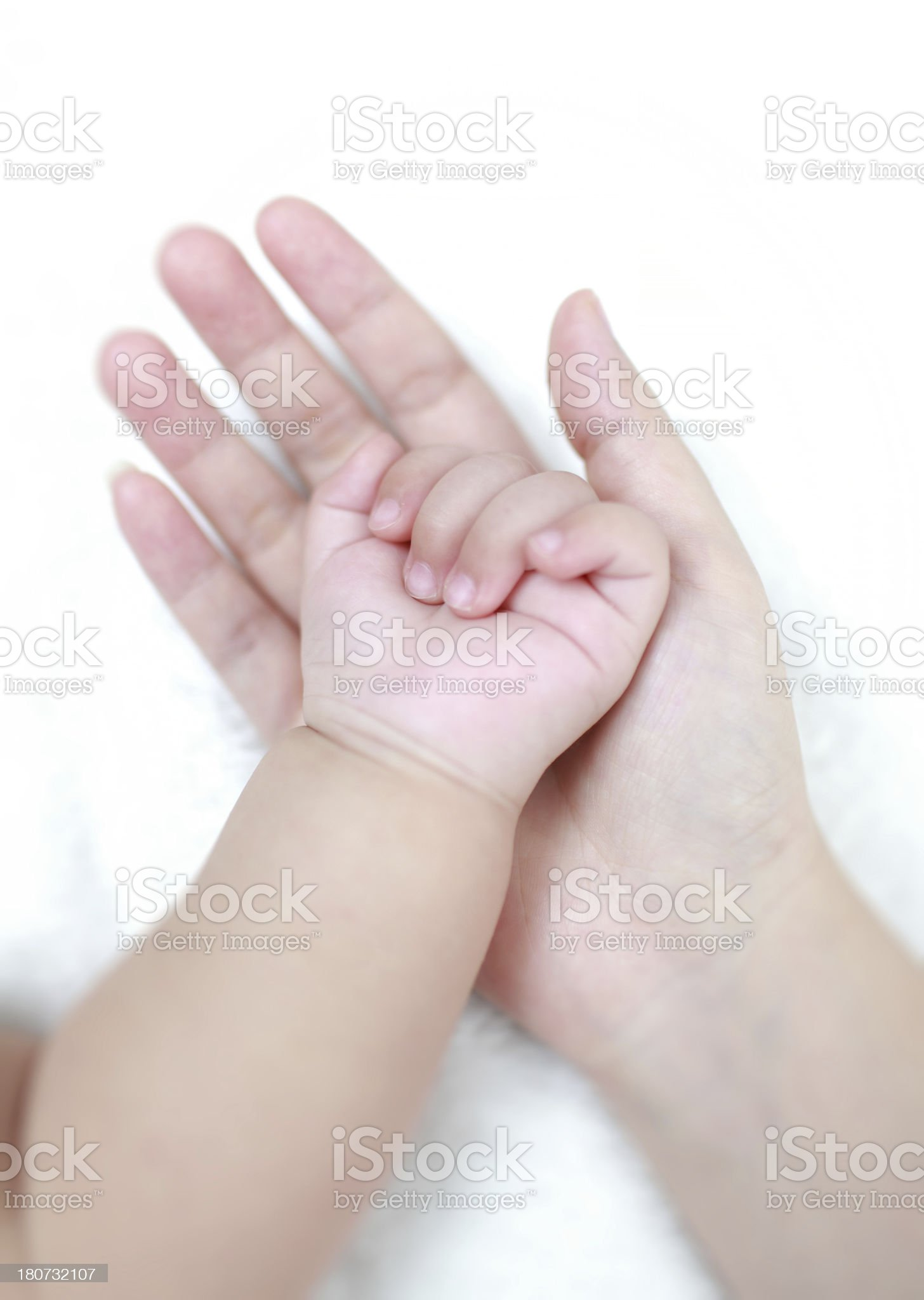 Touch of newborn royalty-free stock photo