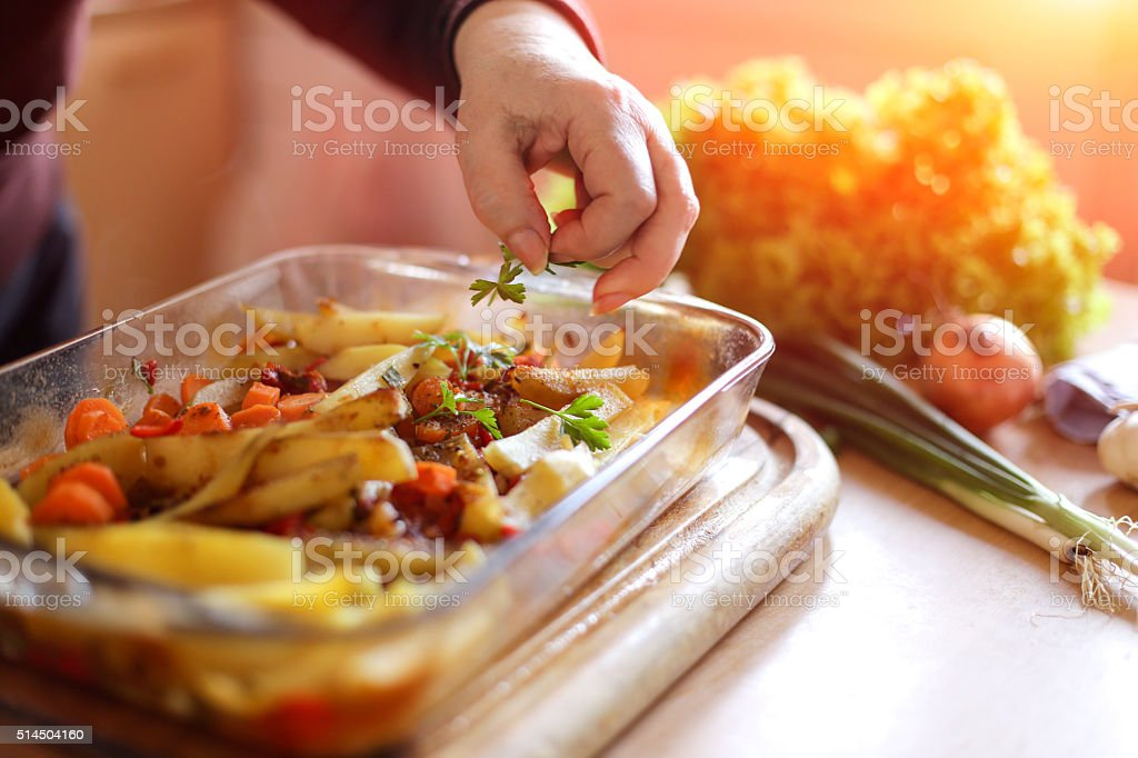 Touch of seasoning stock photo