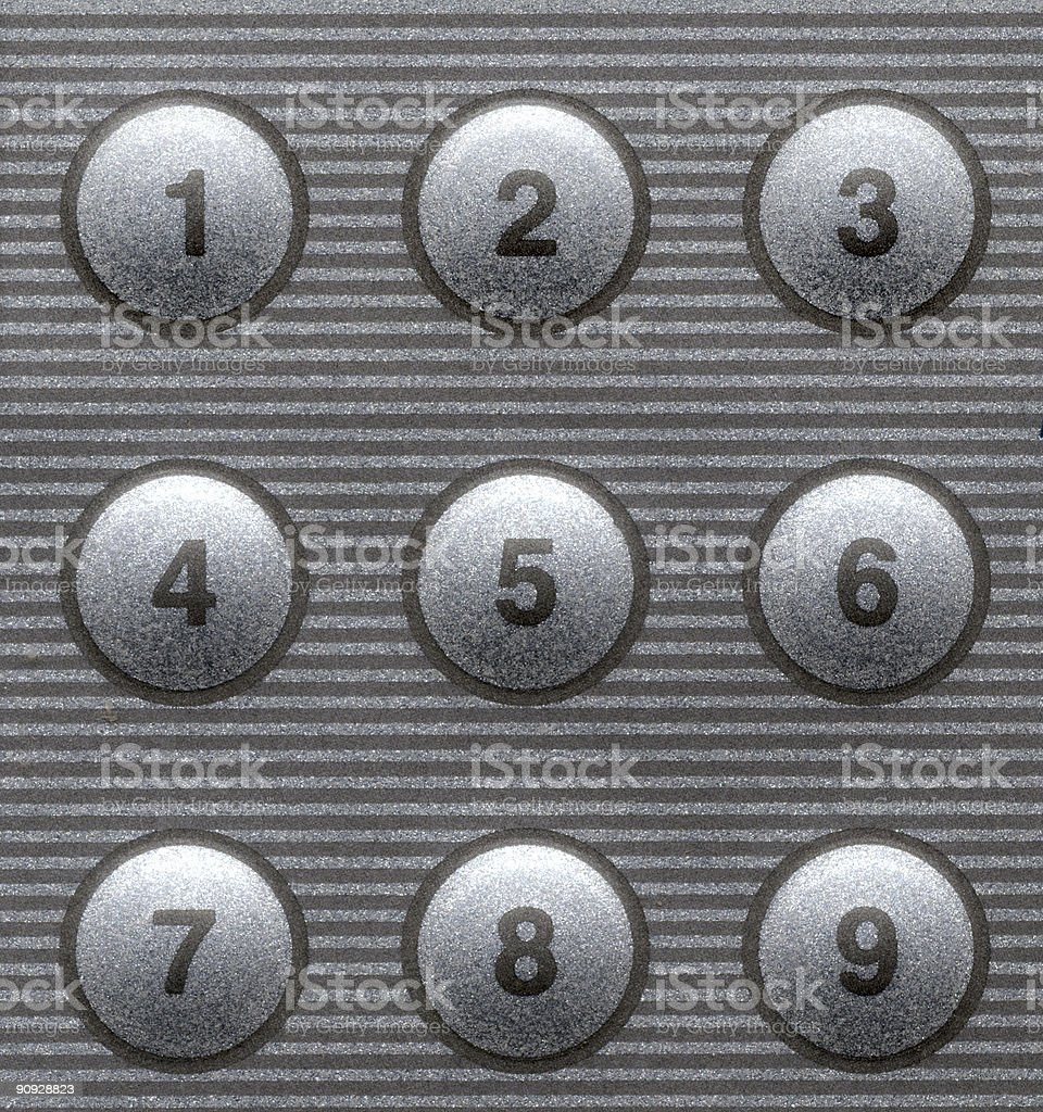 Touch Pad Numbers royalty-free stock photo