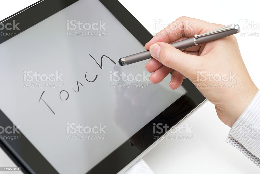 Touch stock photo