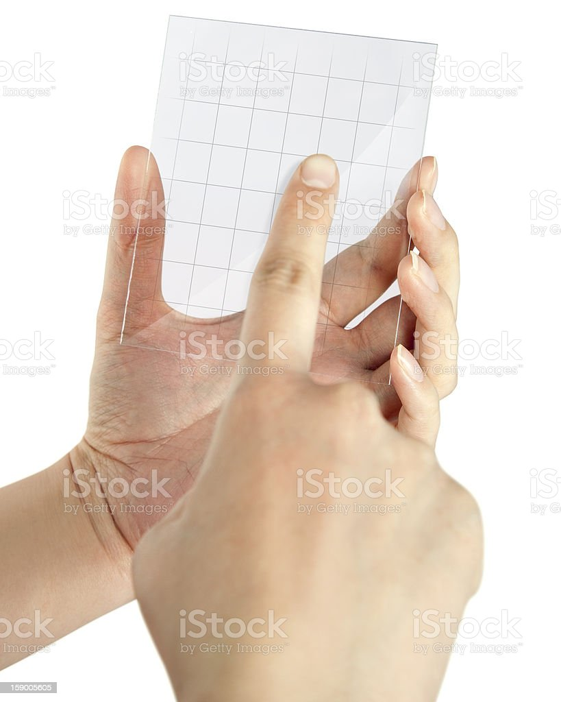 Touch Screen Blank royalty-free stock photo