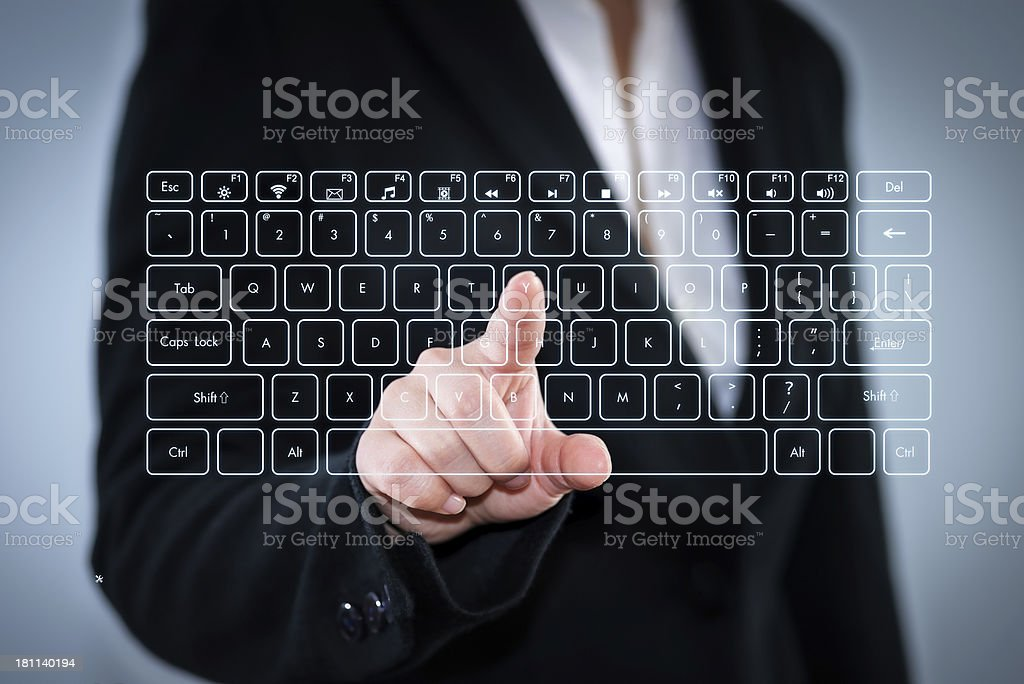 Touch Screen Computer Keyboard royalty-free stock photo