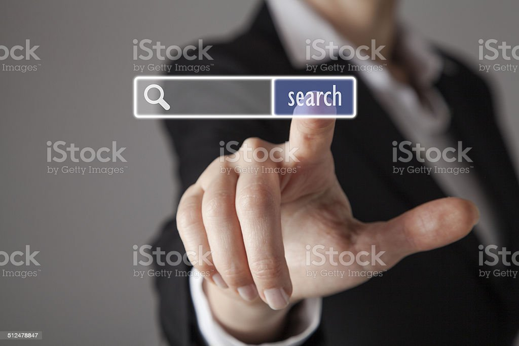 Touch screen concept stock photo