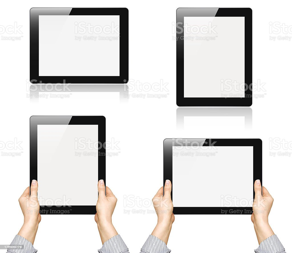 touch screen device stock photo