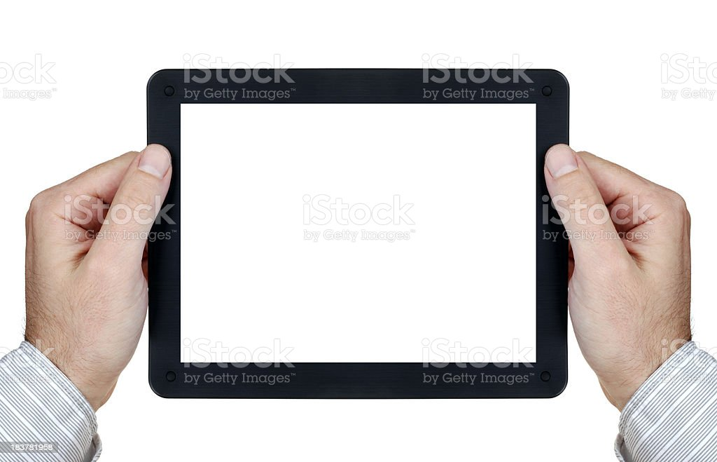 Touch screen digital tablet royalty-free stock photo