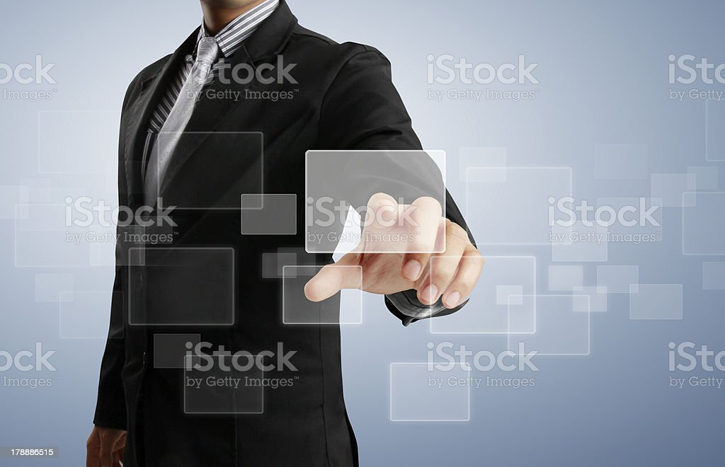 touch screen interface stock photo