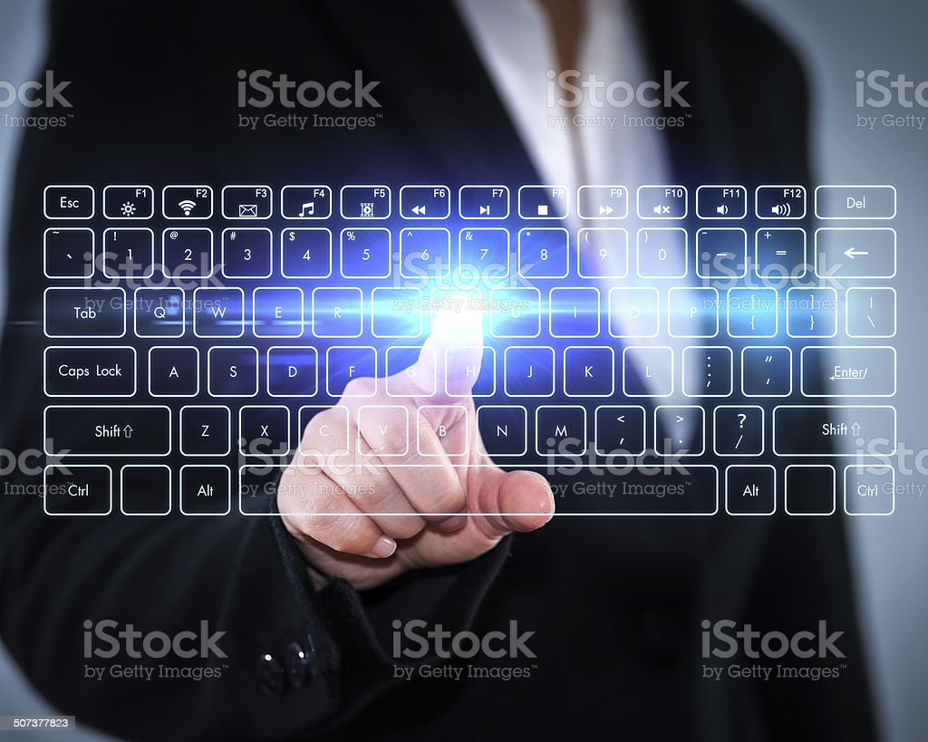 Touch Screen keyboard stock photo