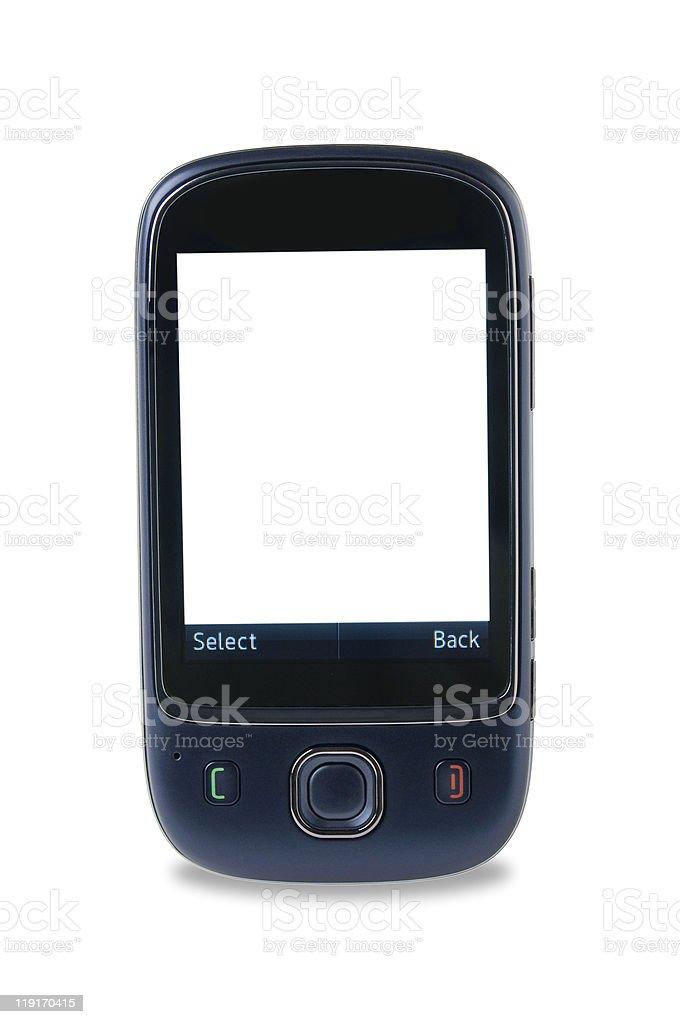 Pantalla táctil de teléfono móvil foto de stock libre de derechos