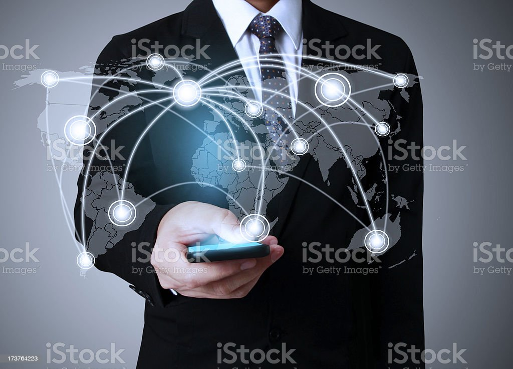 Touch screen mobile phone royalty-free stock photo
