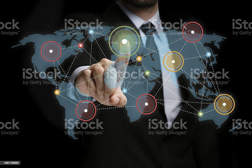 Touch Screen Network stock photo