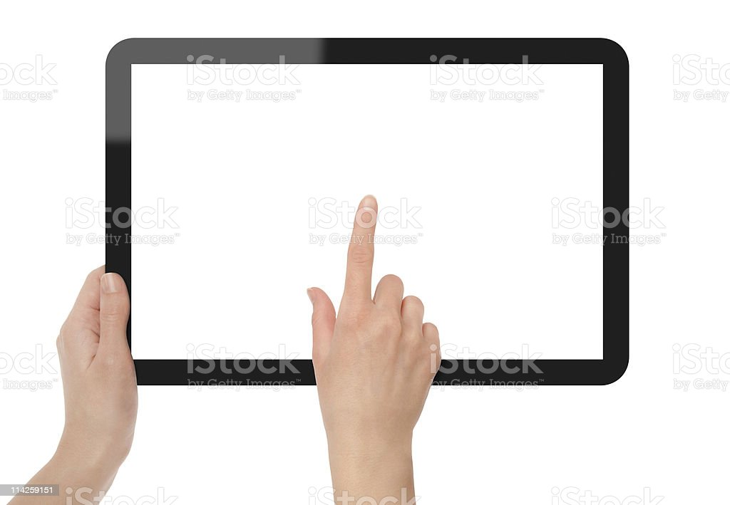 Touch screen on Tablet PC royalty-free stock photo