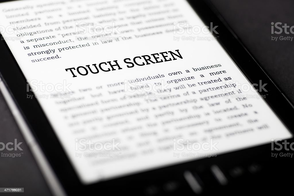 Touch screen on tablet touchpad, ebook concept royalty-free stock photo