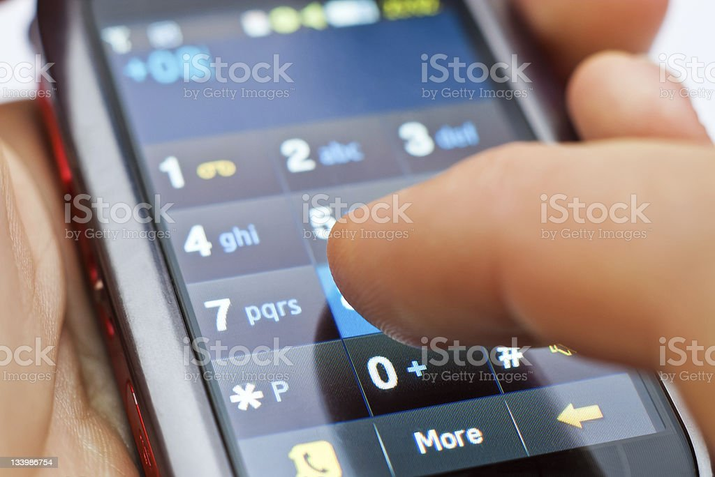 touch screen phone stock photo
