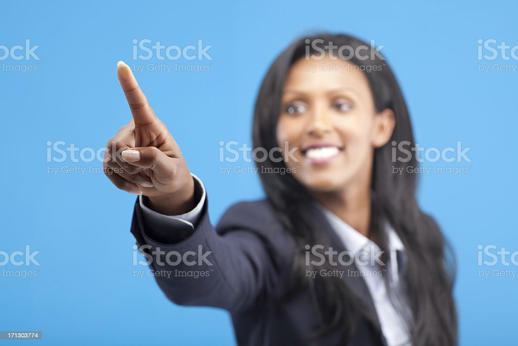 Touch screen. stock photo