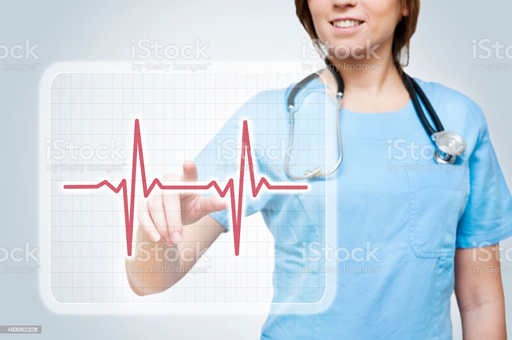 Touch screen pulse / Medicine concept (Click for more) stock photo