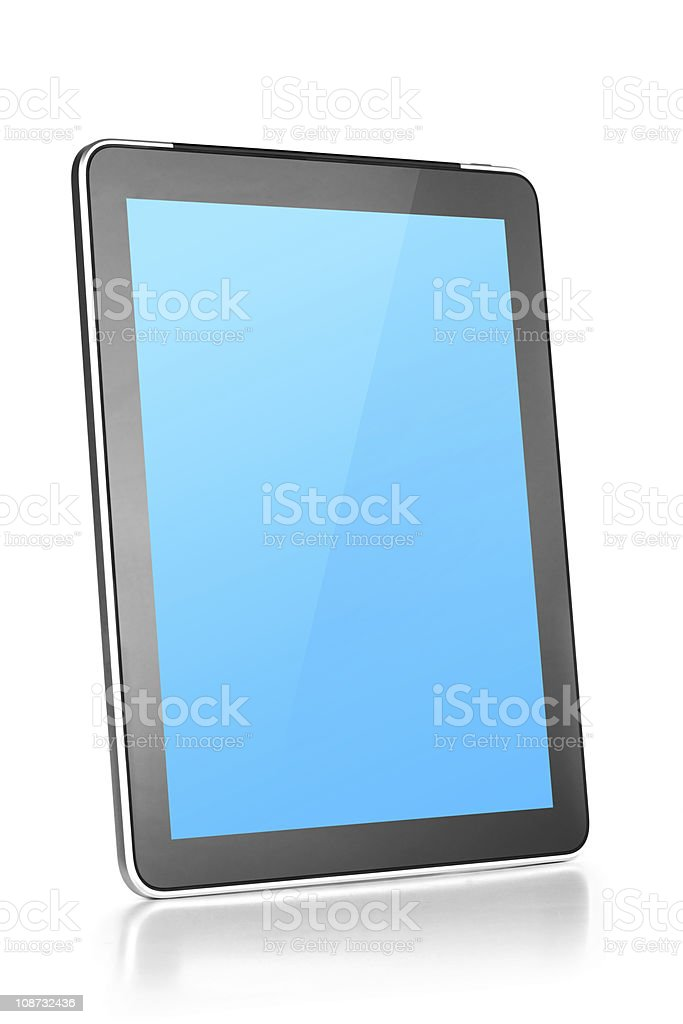 Touch screen tablet computer stock photo