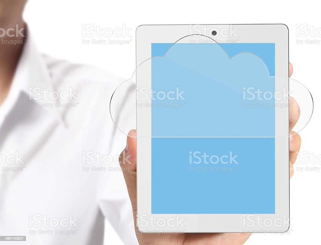 touch screen tablet royalty-free stock photo