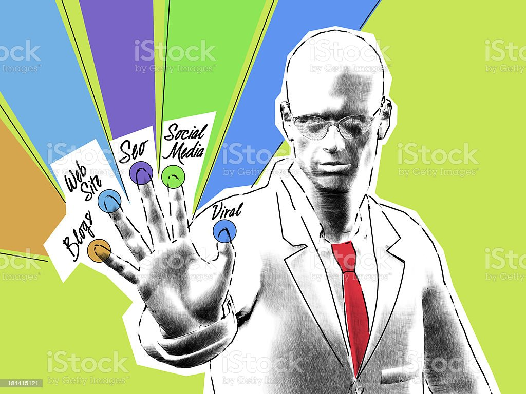 Touch Screen Technology by Retrostyle Illustration stock photo