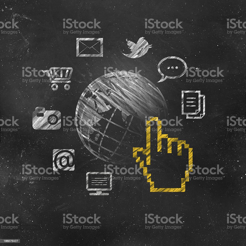 Touch Screen-Application Icons stock photo