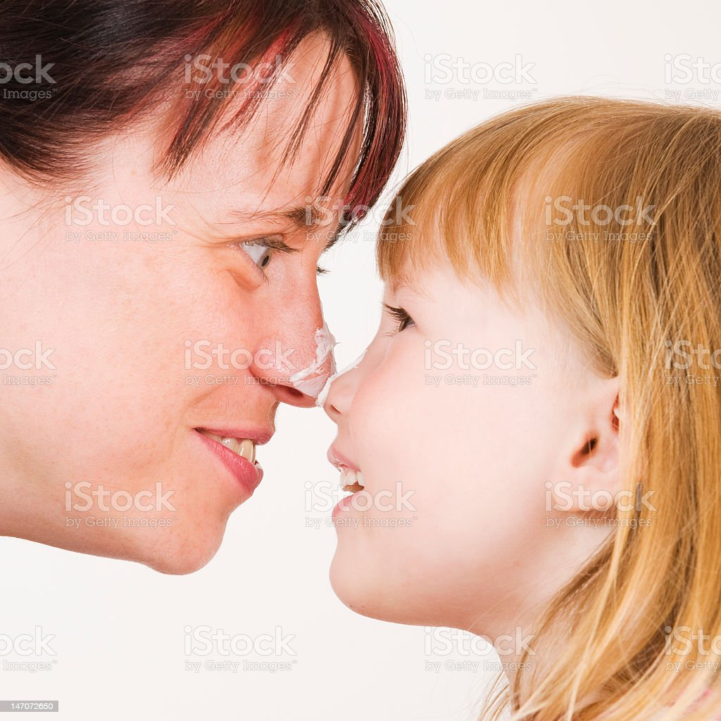 touch to nose royalty-free stock photo