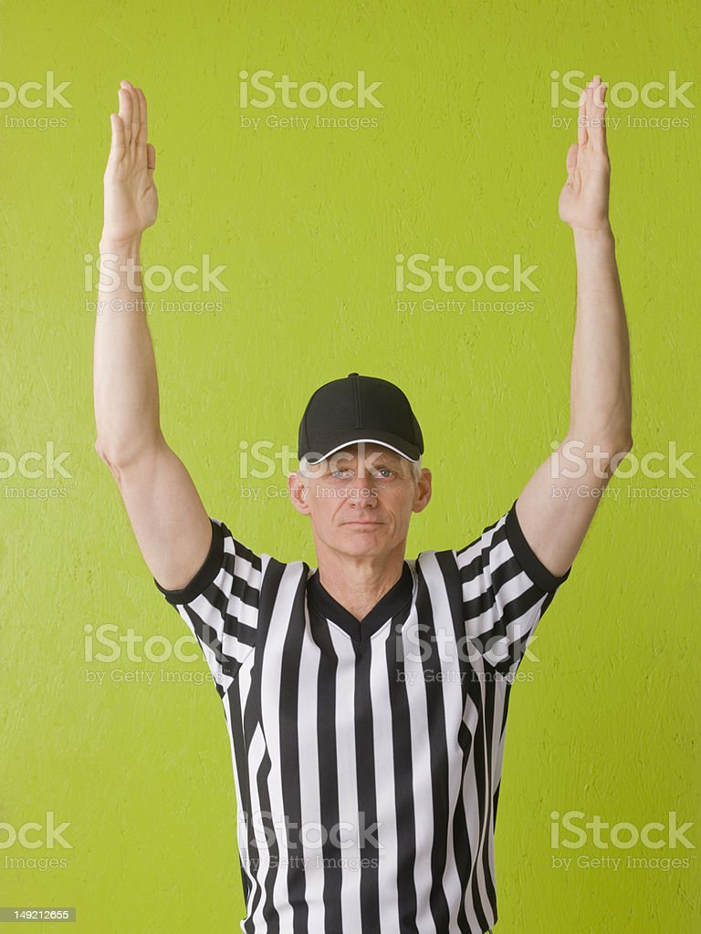 Touchdown royalty-free stock photo