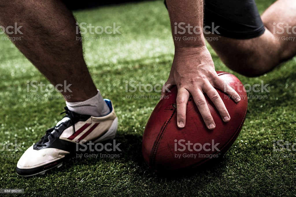 Touchdown stock photo