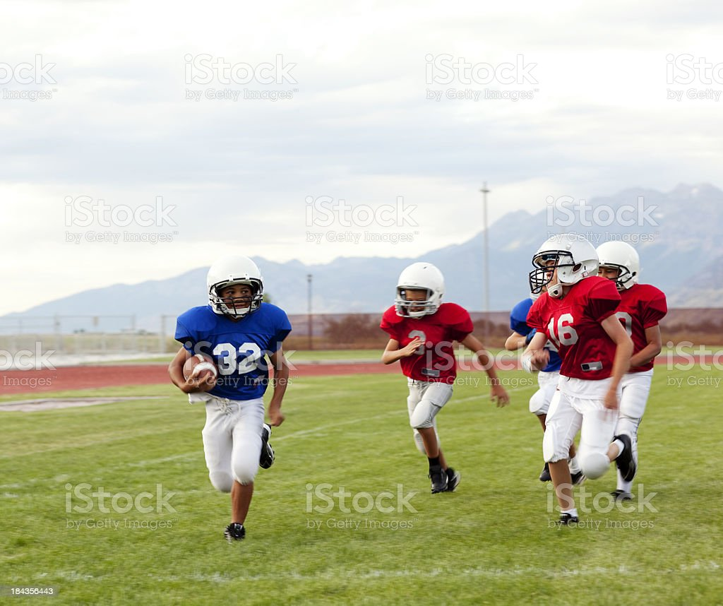 Touchdown Run royalty-free stock photo