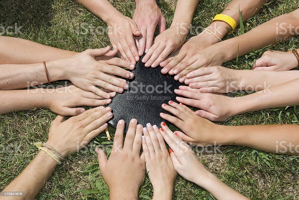 Touched By Faith - Bible & Christian Youth Group royalty-free stock photo