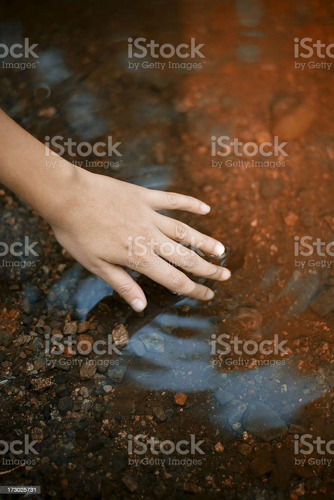 touching autumn stock photo