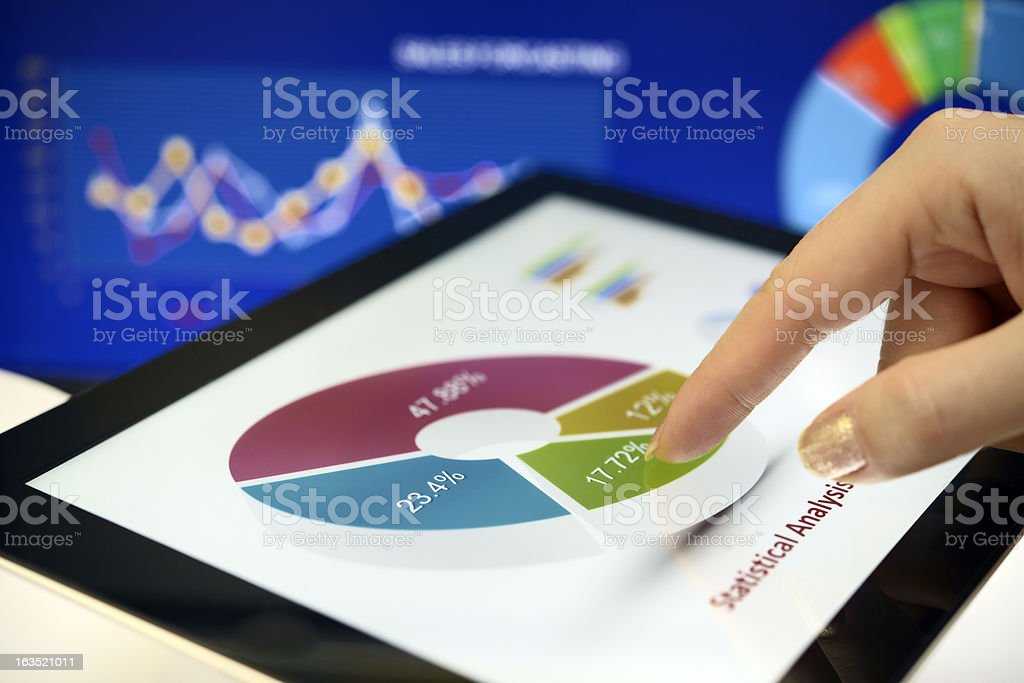 Touching chart royalty-free stock photo
